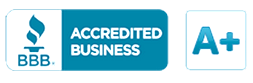 A+ Accredited by the Better Business Bureau